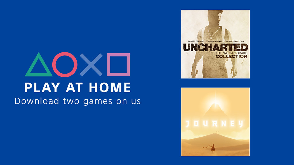 2 giochi gratuiti su Playstation Store con l'iniziativa PLAY AT HOME .