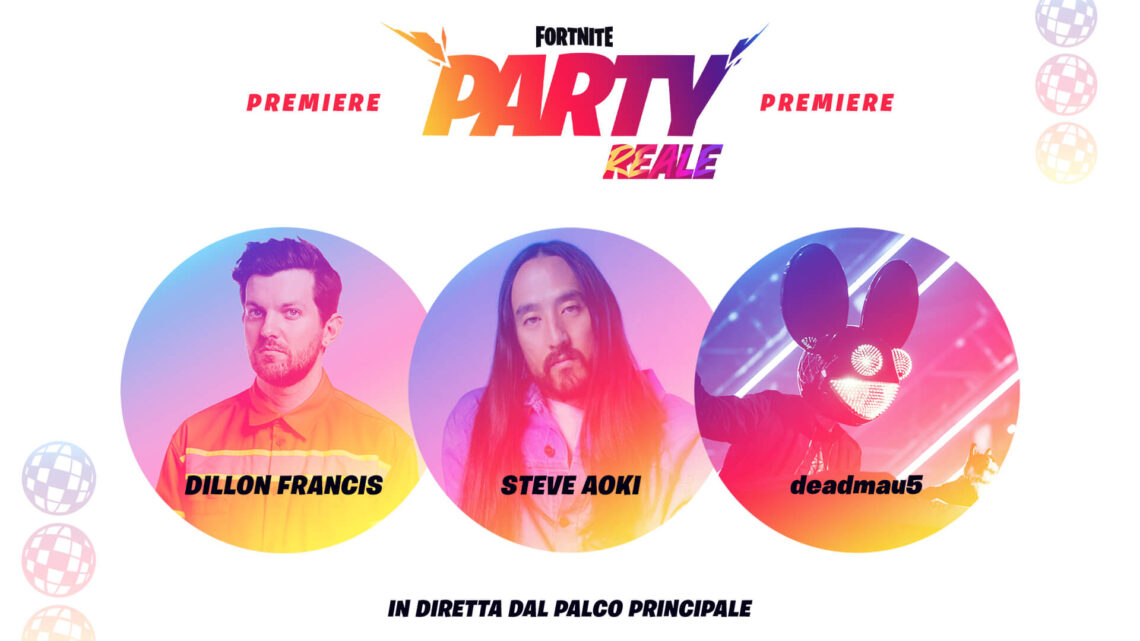 Fortnite news: DILLON FRANCIS, STEVE AOKI E DEADMAU5 EVENTO COMPLETO E SENZA COMMENTO – full event