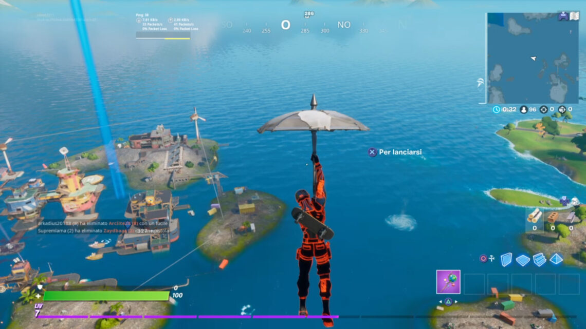 Fortnite Guide : Usa 1 mulinello alla fortiglia – Sfide Aquaman –